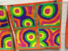 concentric circles cut and remount-5th grade