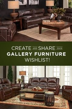 Create your very own Gallery Furniture Wishlist to start sharing your favorite GF designs with your loved ones! Follow this pin to begin compiling a personalized  list of the most beautiful pieces from the best furniture selection in Houston! | Houston TX | Gallery Furniture |