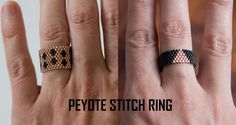 Peyote Stitch Ring - Nearly Crafty