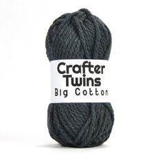 Crafter Twins Big Cotton yarn ball in dark grey
