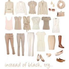 instead of black, try...