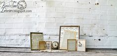 Vintage Gold Tone Photo Frames w/ Book Pages & Sheet Music by KnickofTime