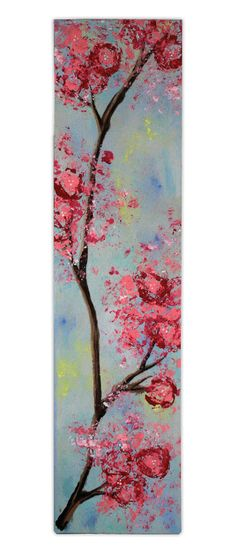 Cherry Blossoms Painting Panel. Katie painted this gorgeous image on one of our wood Painting Panels - and made the cherry blossoms using brussel sprouts!! A project sheet for this project can be found here: http://www.craftsdirect.com/default.aspx?PageID=311=968