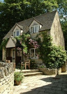 Sudeley Cottages, Cotswolds Bazaar spends a relaxing weekend in the Cotswolds Fairytale Cottage, Garden Cottage, Cozy Cottage, Cottage Homes, Irish Cottage, Storybook Cottage, Cottage Living, Future House, Cottages Anglais