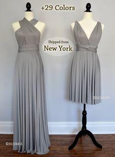 Etsy | DCdress | CA$49.33+$21.33 shipping Silver Grey Bridesmaid Dresses, Silver Dress, Bridesmaid Ideas, Bridesmaid Gowns, Cheap Dresses, Short Dresses, Prom Dresses, Dress Prom, Dress Long