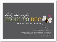 bee theme baby shower invite