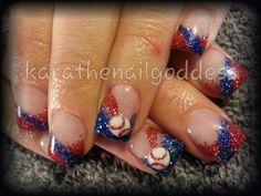 Baseball allstars nail art