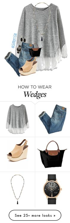 """Comment how you did on exams"" by preppy-southern-gals on Polyvore featuring Chicwish, American Eagle Outfitters, Jeffrey Campbell, Kate Spade, Sole Society, Kendra Scott and Longchamp"