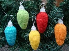 Knitted tree lights. Adorable.