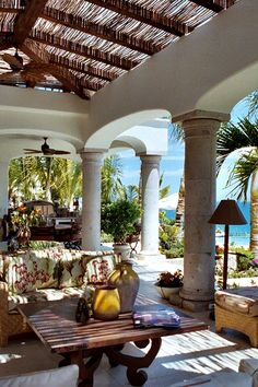 Custom Villa and Land Planning Design - San Jose Del Cabo MexicO Porches, Outdoor Rooms, Outdoor Gardens, Outdoor Living, Interior Exterior, Exterior Design, Beautiful Homes, Beautiful Places, My Pool