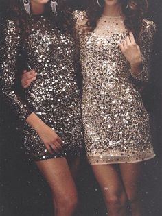 Sequined Dresses for New Year's Eve More
