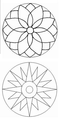 Simple Mandala Art Pattern And Designs – All Image New Mandala Design, Mandala Art, Mandala Painting, Mandala Pattern, Dot Painting, Pattern Art, Stained Glass Patterns, Mosaic Patterns, Embroidery Patterns
