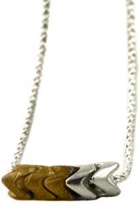 notch necklace - love the mix of brass & silver $148