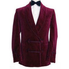 15f947c50d2 Double breasted and frogged smoking jacket with shawl-collar by Oliver Brown  Gentlemen Outfitters.