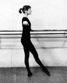 Ballet class in Paris, 1956.   Audrey Hepburn Estate Collection.