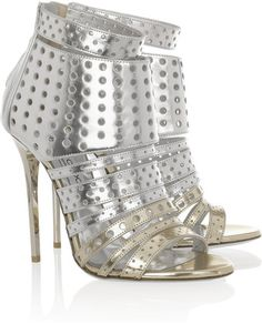 Jimmy Choo Malika Perforated Leather Sandals | More bling here: http://mylusciouslife.com/photo-galleries/bling-fling/