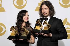 The Civil Wars with their two wins! ;) love these two! they are going to be on one of the late night shows tonight...