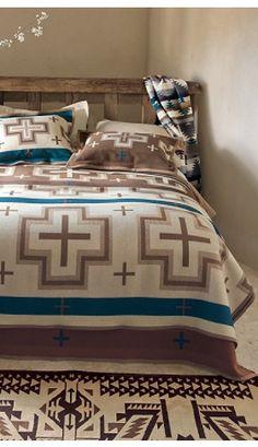 Pendleton Mocha San Miguel Blanket collection.