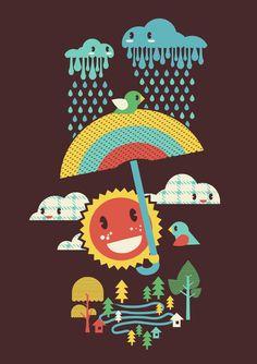 After the rain comes the rainbow by Budi Satria Kwan