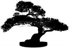 Bonsai Tree Silhouette Royalty Free Cliparts, Vectors, And Stock ...