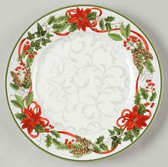 222 Fifth HOLIDAY FESTIVITIES Dinner Plate 8690076 #222Fifth