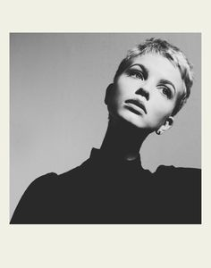 Cropped hair needn't be masculine - a short, gamine cut like this can help to accentuate feminine features.