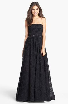 Adrianna Papell Strapless Soutache Gown available at #Nordstrom Sucks that it is only offered in black :(