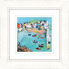 Buy Kathryn Matthews - Seagulls on the Rocks, St Ives Framed Print, 52 x 52cm Online at johnlewis.com