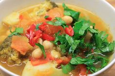 Veggie & Chickpea Soup with Parsley & Chili