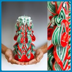 Carved candles Christmas gifts for women, for men, unique ideas for beautiful present, large size - Wedding candles and holders (*Amazon Partner-Link)