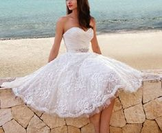 Vestido novia corto 8 | Handspire