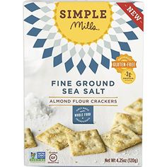 Simple Mills Fine Ground Sea Salt Almond Flour Snack Crackers, Gluten Free, Vegan, Paleo, Natural ounce (Pack of >>> Continue to the product at the image link. Healthy Drinks, Healthy Snacks, Healthy Crackers, Nutrition Drinks, Diabetic Snacks, Healthy Juices, Grain Free, Dairy Free, Lactose Free