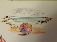 Beach-Ball, pond and cloud are made by Art Impressions Rubber Stamps, items can be purchased in my ebay Store Pat's Rubber Stamps & Scrapbooks or call me 423-357-4334 with order, or come by 1327 Glenmar Ave. Mt Carmel, TN 37645, Pat's Rubber Stamps & Scrapbook supplies 423-357-4334. We take PayPal. You get free shipping with the phone orders of $30.00 or more