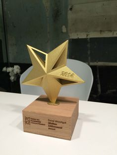 3D print Trophy -Awards VOKA starters 2014 - Twikit Specials