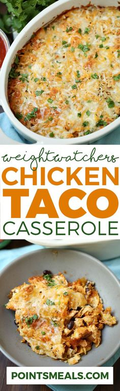 WEIGHT WATCHERS CHICKEN TACO CASSEROLE (WEIGHT WATCHERS SMARTPOINTS)