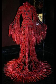 """Dress by Franck Sorbier.  This reminds me of a line from Bjork's song Bachelorette """"I'm a fountain of blood in the shape of a girl"""""""