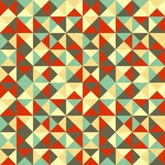 Triangles in retro colours. Textures. $4.00