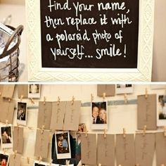 cute alternative guestbook idea- put them in scrapbook, and note the ones that chose not to take a pic lol smh