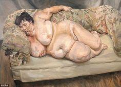 Lucian Freud's portrait, Benefits Supervisor Sleeping, Ah Freud. Fleshy, fat and fabulous.