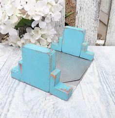 SHABBY CHIC Turquoise Southwestern Style by HuckleberryVntg, $18.00