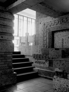 """Frank Lloyd Wright Described the ideal entry hall as """"feeling you are entering a very sheltered space--cavelike"""", then it opens up into the living spaces."""