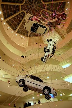 Exploding Cars by Cai Guo-Qiang   Guggenheim Museum