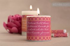 10 DIY Mother's Day Gift Ideas (most are super easy to do)! A handmade gift is always a big hit with mothers and grandmothers! DIY gift ideas, easy crafts, homemade gifts for moms, DIY projects Cute Candles, Diy Candles, Pillar Candles, Mothers Day Crafts For Kids, Diy Mothers Day Gifts, Mothers Day Candle, Homemade Gifts For Mom, Mother's Day Printables, I Love Mom