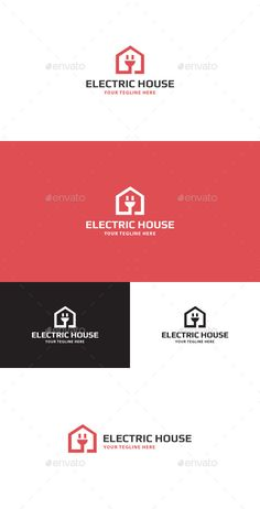 Electric House  Logo Design Template Vector #logotype Download it here: http://graphicriver.net/item/electric-house-logo/11471903?s_rank=1616?ref=nexion