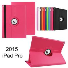 360 Degree Rotating Leather Cover For Apple iPad Pro Case with Stand and Sleep Smart Cover For iPad Pro 12.9 2015 Released #Affiliate