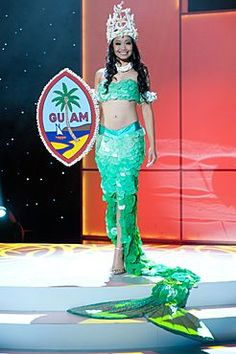 """Miss Guam representing """"Sirena"""" our Island Mermaid legend Miss Universe Costumes, Miss Universe National Costume, Miss Angola, Boynton Beach, Dressed To The Nines, Guam, Beauty Pageant, People Of The World, Best Memories"""