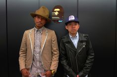 Pharrell & Nigo Nigo, Bape, Issa, Cowboy Hats, Gentleman, Hip Hop, Suit Jacket, Handsome, Suits