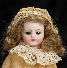 """Interlude"" - Marquis Catalogued Auction - March 11, 2017: 51 Petite German Bisque Doll with Enchanting Expression"