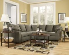Darcy Sage Microfiber Green Sectional by Ashley Furniture Reviews