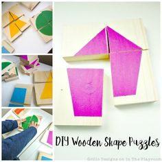 DIY Wooden Shape Puzzles - In The Playroom